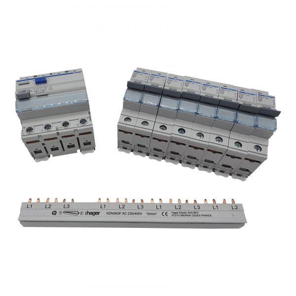 Set Hager 1x CDA440D, 8x MBN116,1x KDN363F