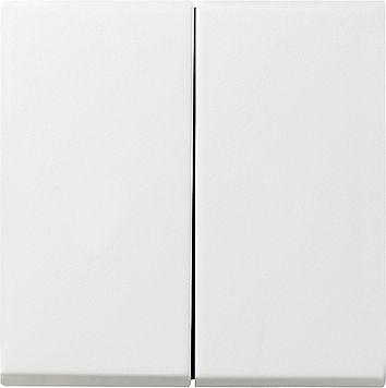 Gira Wippe Serienschalter reinweiß seidenmatt 029527