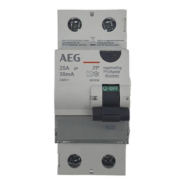 AEG FI-Schutzschalter 25A/0,03A 30mA RCD 2polig 603338
