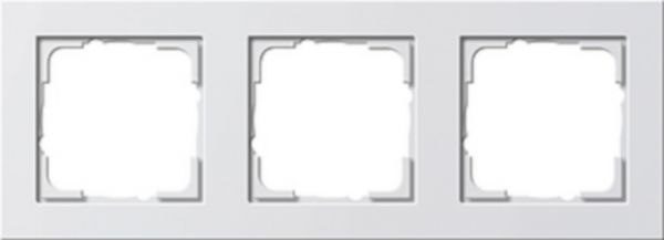 Gira E2 3-fach Abdeckrahmen reinweiß glänzend 021329