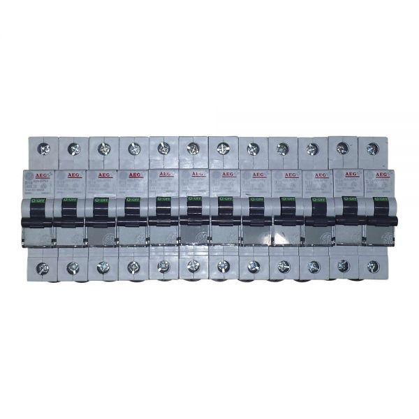 12x GE B16A Leitungsschutzschalter 1polig 566504