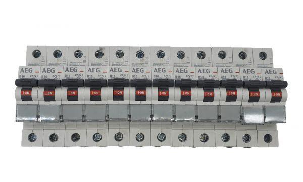12x AEG B16A Leitungsschutzschalter 1polig 566504