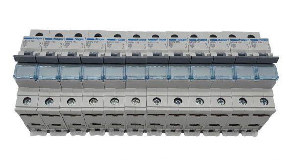 12x Leitungsschutzschalter B-Charakteristik 1polig MBN116
