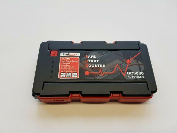 Kraftmax QC3000 Digitale KFZ Starthilfe & USB Powerpack