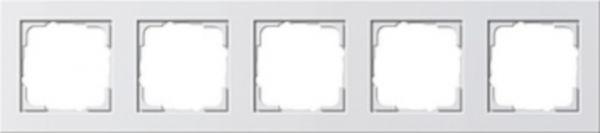 Gira E2 5-fach Abdeckrahmen reinweiß glänzend 021529