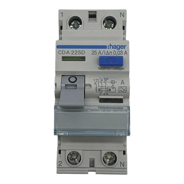 Fehlerstromschutzschalter 2polig 25A 30mA Typ A