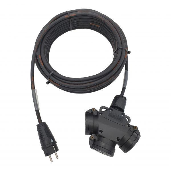 3-Fach-Vollgummi-Stromkabel Titanex 230V 3G2,5mm²
