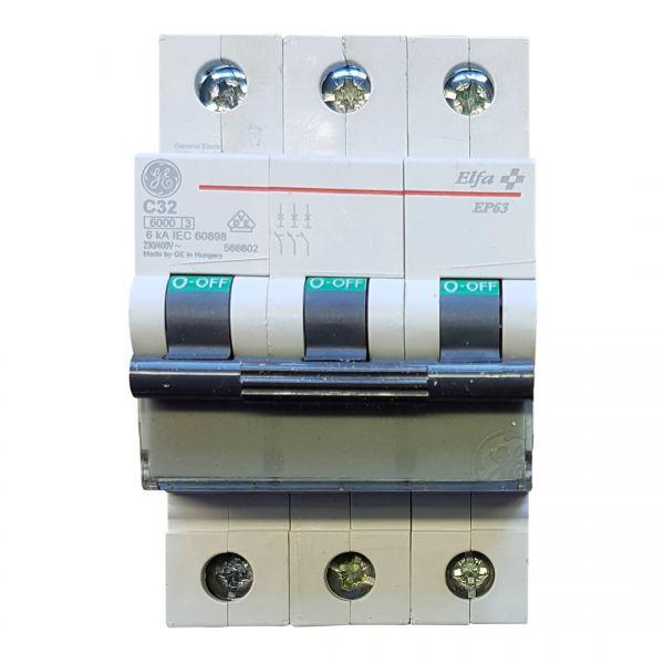 GE C32A Leitungsschutzschalter 3polig 566602