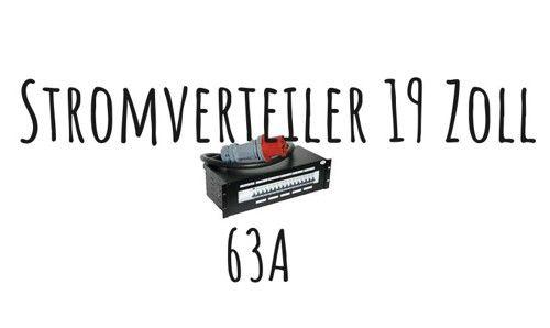 63A Stromverteiler 19'' mit RCD; 2x CEE16, 6x Schuko