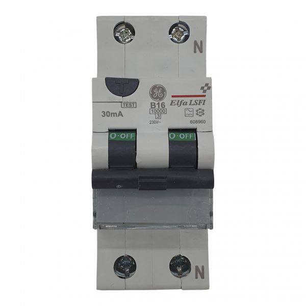 AEG LS-FI Schutzschalter B16A/0,03A 30mA RCD 1+N 607842