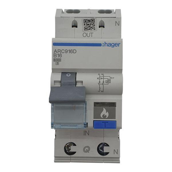 Fehlerlichtbogen-Schutzeinrichtung 1P+N B16A