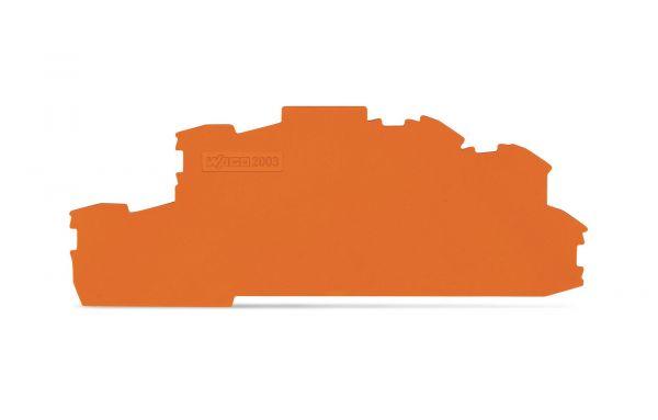 Wago 2003-6692 Abschluss- und Zwischenplatte 0,8 mm dick orange