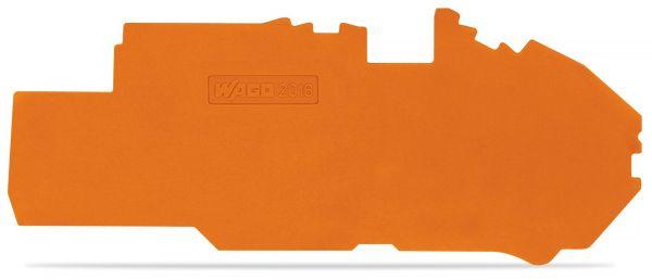 Wago 2016-7792 Abschluss- und Zwischenplatte 1 mm dick orange