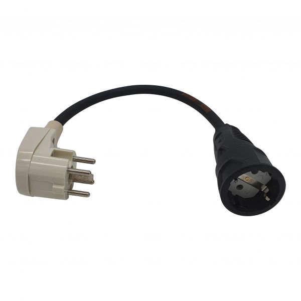 Adapterleitung Perilex 16A Winkelstecker auf Schuko Kupplung