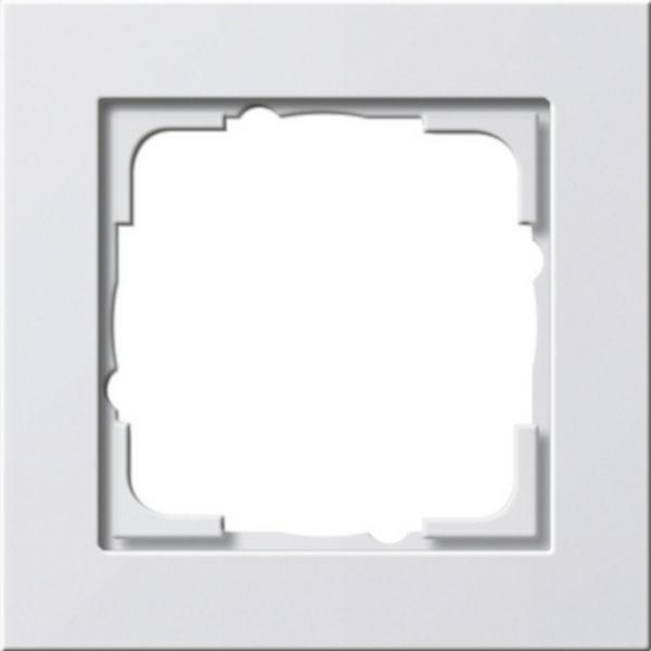 Gira E2 1-fach Abdeckrahmen reinweiß glänzend 021129