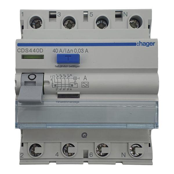 Fehlerstromschutzschalter 4polig 40A 30mA Typ A