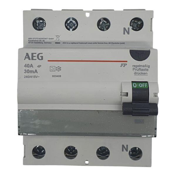 AEG FI-Schutzschalter 40A/0,03A 30mA RCD 4polig 603408