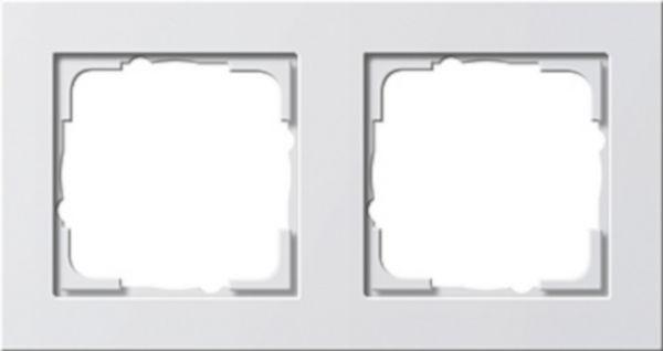 Gira E2 2-fach Abdeckrahmen reinweiß glänzend 021229